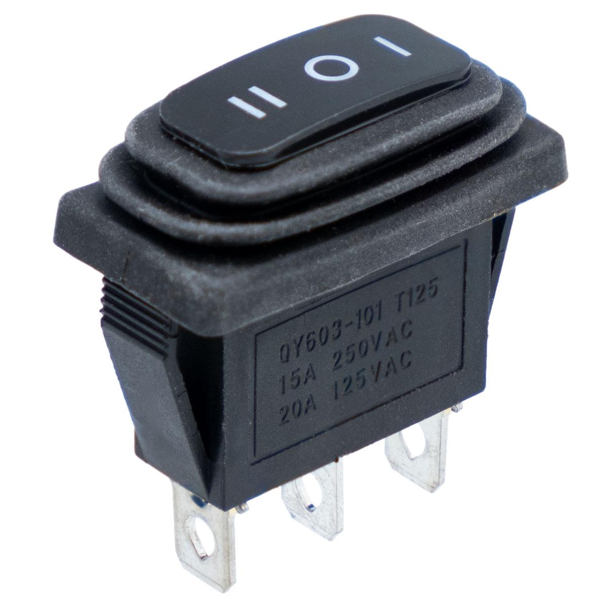 Interruptor estanco, rectangular 3pines