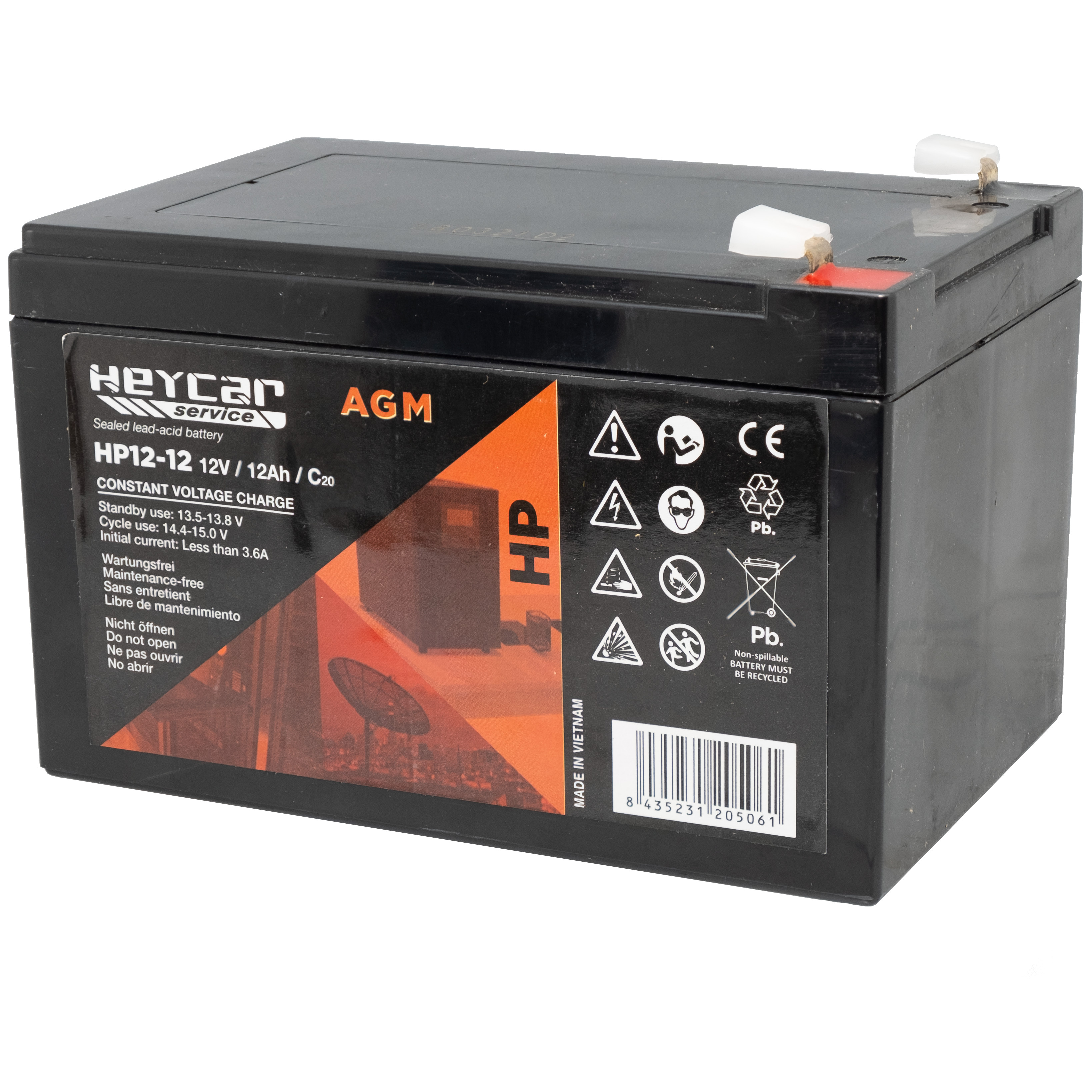 Batería 12V 12Ah HeyCar serie HP 151x98x95/100 (L x W x H)