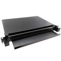 "Ver informacion sobre 19"" Patch panel de fibra óptica, 24puertos para SC simplex, LC simplex and LC duplex"