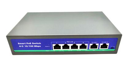 Ver informacion sobre Switch POE 6 puertos ( 4POE + 2UPLINK ) + alimentador integrado