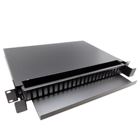 "Ver informacion sobre 19"" Patch panel de fibra óptica, 24puertos para SC duplex"