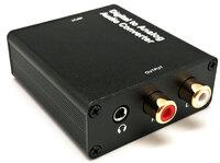 Ver informacion sobre Conversor Óptico Toslink/Coax. a Analóg. RCA L/R + 3.5mm., Metal
