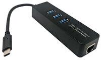 Ver informacion sobre Hub USB C 3.1 a 3xUSB A 3.0 + RJ45 Ethernet