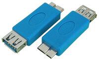 Ver informacion sobre ADAPT. USB 3.0 A HEMBRA a MICRO USB 3.0 MACHO, DE NICKEL, COLOR AZUL