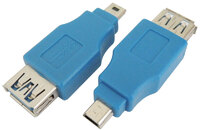 Ver informacion sobre ADAPT. USB 3.0 A HEMBRA a HP MINI 10p, NICKLE, COLOR AZUL
