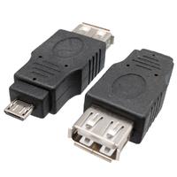 Ver informacion sobre USB 2.0 A HEMBRA a MICRO USB 5p MACHO, NICKLE, COLOR NEGRO