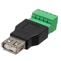 Ver informacion sobre USB A Hembra con terminales