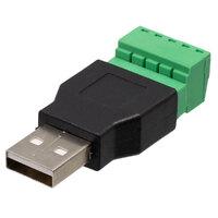 Ver informacion sobre USB A macho con terminales