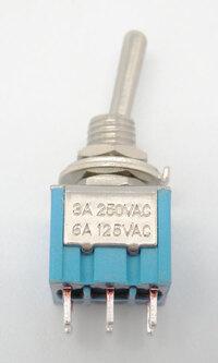 Ver informacion sobre INTERRUPTOR MINI 6P. (DPDT) ON-ON, 120V. 5A (250V. 2A)