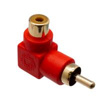 Ver informacion sobre Adaptador RCA Macho-Hembra acodado, Color Rojo