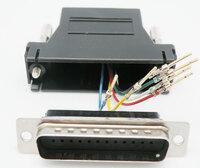 Ver informacion sobre ADAPTADOR,  DB25 MACHO A RJ12 HEMBRA 6C.