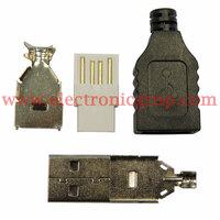 Ver informacion sobre Conector USB tipo A - Macho, con Carcasa