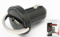 Ver informacion sobre Cargador de coche USB, 5V 1A, con anilla