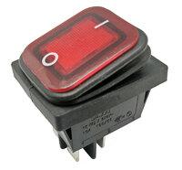 Ver informacion sobre 4P Int. Estanco ON-OFF 10A/16A 125V/250V, Rojo