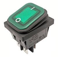 Ver informacion sobre 4P Int. Estanco ON-OFF 10A/16A 125V/250V, Verde