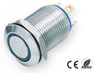 Ver informacion sobre Pulsador Anti-vandálico, OFF-(ON) SPST, LED 220V Azul