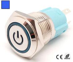 Ver informacion sobre Interruptor Anti-vandálico, OFF-ON DPST, LED y símbolo 12V Azul