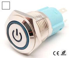 Ver informacion sobre Interruptor Anti-vandálico, OFF-ON DPST, LED y símbolo 12V Blanco