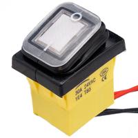 Interruptor IP68 DPST ON-OFF 12V/30A, Blanco con LED