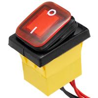 Interruptor IP68 DPST ON-OFF 12V/30A, Rojo con LED
