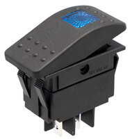 Interruptor para automóvil/embarcación 12V 20A, LED azul