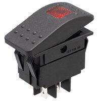 Interruptor para automóvil/embarcación 12V 20A, LED rojo