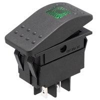 Interruptor para automóvil/embarcación 12V 20A, LED verde