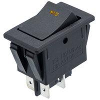 Interruptor de balancin 12V OFF-ON DPST, con LED amarillo
