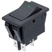 Interruptor de balancin 12V OFF-ON DPST, con LED verde