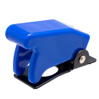 Tapa de seguridad azul para interruptores de palanca