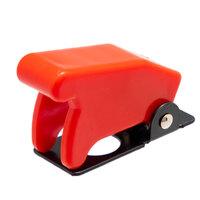 Tapa de seguridad roja para interruptores de palanca