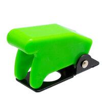 Tapa de seguridad verde para interruptores de palanca