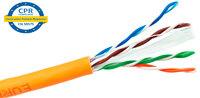 Ver informacion sobre UTP Cat.6 CCA LSZH CPR 500m, naranja, rigido, bobina madera
