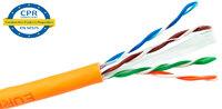Ver informacion sobre UTP Cat.6 CCA LSZH CPR 305m, naranja, rigido, Pull Box