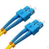 Cable de fibra óptica SC/UPC a SC/UPC Monomodo Duplex, 2m