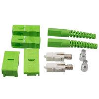 Conector SC/APC duplex de fibra óptica para grimpar cable de 3mm