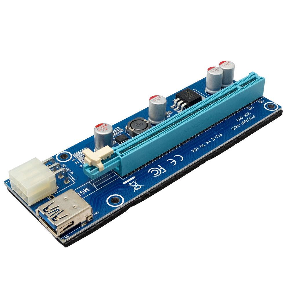 Ver informacion sobre Pack RISER PCI-E x16 version 007 para minar criptomonedas