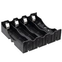 Portapilas de 4 unidades para pilas 18650, para circuito impreso