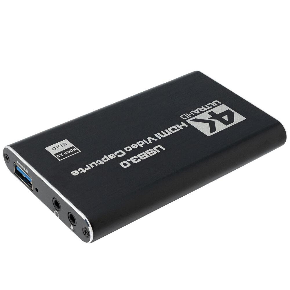 Capturadora de Video HDMI y micrófono a USB, 4K@60Hz con salida de video